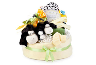 Diaper Cake SHEEP We send your Baby gifts to Europe