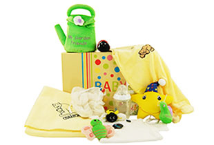 Baby Gift Basket GARDEN FRIENDS Baby Gifts for Europe
