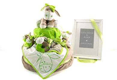 Diaper Cake DONKEY Baby Gifts for Boys and Girls