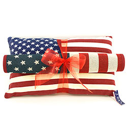 Z_09: USA Pillow & Doormat  gift wrapped