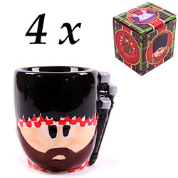 Z_103: 4 pieces Scottish bagpipers Egg Cups