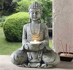 Z_14: Buddha Candle Holder - gift wrapped