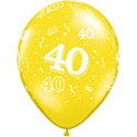 Z_27: Balloon,  40. Birthday, delivery not inflated