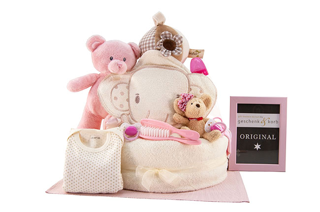 ESSENTIAL | BABY DIAPER CAKE FOR GIRLS
