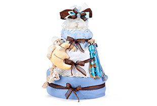 Diaper Cake WOW Gifts for Baby Boys send to Europe