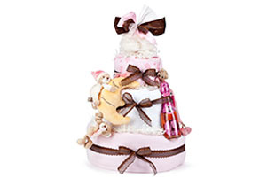 Diaper Cake WOW Gifts for Baby Girls send to Europe