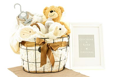 Baby Gifts Europe GIFT BASKET TEDDY BEAR FOR SMALL BABYS