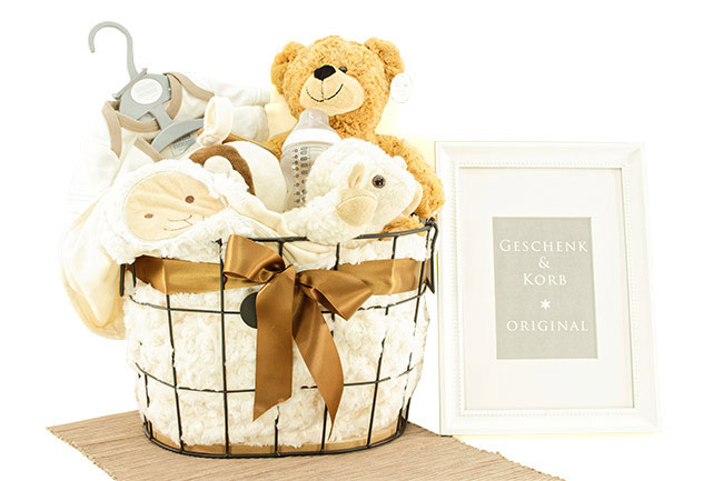 TEDDY GIFT BASKET FOR SMALL or PREMATURE BABYS