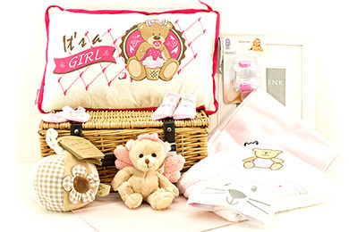 Baby Gift ITs A GIRL BABY GIFT BASKET WE LOVE PINK