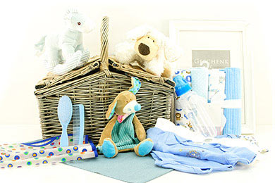 ADORABLE BABY BOY SKY BLUE GIFT BASKET Gifts to Europe