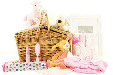 Send Gifts to Europe ADORABLE BABY GIRL GIFT BASKET