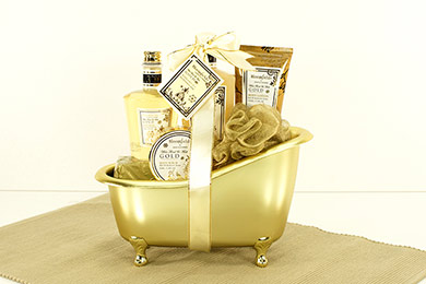 WELLNESS GIFT GOLD BATH gift to Europe