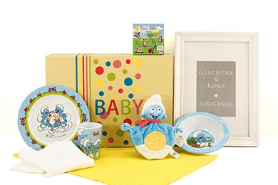 Baby Gift Box SMURF GIFT BOX for Europe delivery