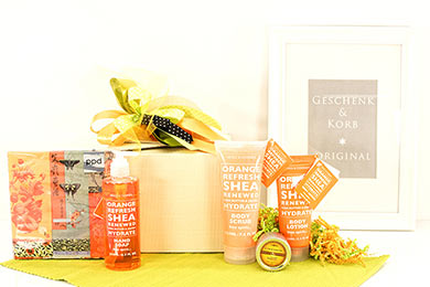 ORANGE & SHEA Send a womens spa gift to Europe