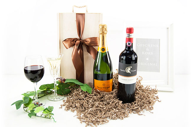 CHAMPAGNE & WINE | Wooden Gift Box