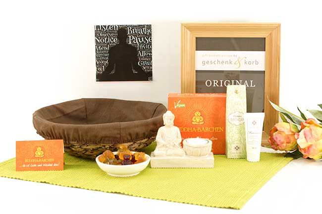 WELLNESS BIRTHDAY GIFT BASKET BUDDHA