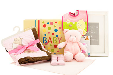 Baby Gift Basket BABY GIRL CUDDLE GIFT for Europe