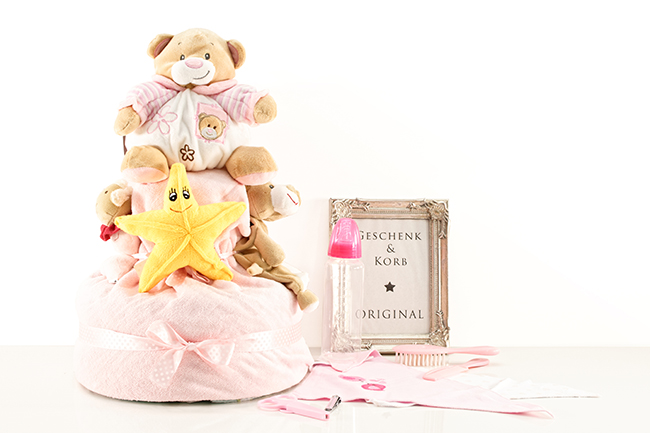 DIAPER CAKE STAR FOR GIRLS